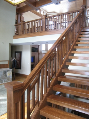 Contemporary Craftsman Balusters and Stair